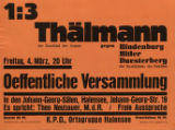 1:3 :Thalmann : der Kandidat der Armen : gegen Hindenburg Hitler Duesterberg : die Kandidaten der Reichen : Oeffent