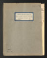 Correspondence, Reports, and Minutes. Policy correspondence, reports, and publications, 1891-1940. (Box 1, Folder 10).