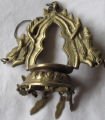 Pair of brass decorative ornaments
