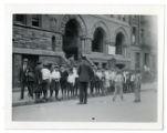Children in front of Jan Hus Church in New York City