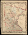 County map of Minnesota