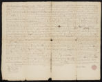 Indenture between the Rev. Samuel Peters of New York and Neziah Bliss of Philadelphia, for 69,120 acres of land granted by two Indian chiefs to Jonathan Carver.