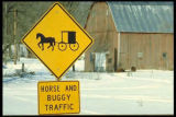 Amish area, Southeast Minnesota, Horse And Buggy Traffic sign.