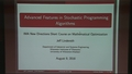 Algorithms for Solving Two-Stage Stochastic Optimization Problems