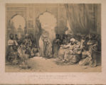 A Nautch in the Palace of the Ameer of Sind.