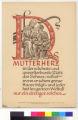 ADALBERT STIFTER DAS MUTTERHERZ ist der schonste und unverlierbarste Platz des Sohnes / selbst wenn er schon graue