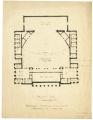 Balcony Plan, Proposed Memorial Auditorium, University of Minnesota sketch
