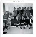 Group portrait of members of the Women's Cooperative Guild at 25th anniversary celebration, Virginia, Minnesota