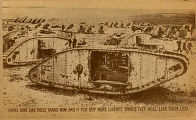 Huns don't like these tanks now, and if you buy more liberty bonds they will like them less