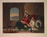 Kandahar Lady of Rank, engaged in smoking.
