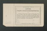 Local Association Miscellaneous Materials. Leeds, 1878, 1881-1882 and 1891-1910. (Box 11, Folder 14)