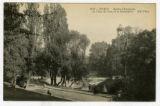 Buttes-Chaumont, un Coin du Lac et le Belvédère