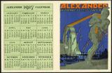 Alexander 1917 calendar : Alexander : harness of power