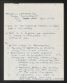 1934-1961. Notes on Rachel DuBois' Doctoral Dissertation, 1958. (Box 3, Folder 10)