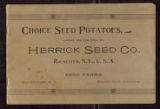 Choice Seed Potatoes, Grown and for Sale by Herrick Seed Co., Rochester, N. Y., U. S. A.