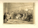 Lord Auckland receiving the Rajah of Nahun in Durbar in his tent.