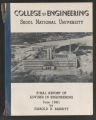 College of Engineering, Seoul National University: Final Report of Adviser in Engineering by Harold E. Babbitt, 1961 (Box 2, Folder 5)
