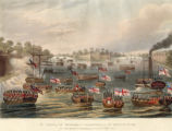 The attack of the stockades at Pagoda Point, on the Rangoon River, by Sir Arch'd. [Archibald] Campbell, K.C.B., 8th