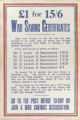 #1 for 15/6 war saving certificates : help your country... and help yourself... : every 15/6 you put in... : in 1 ye