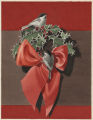 Chickadees on a Christmas Wreath