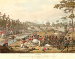 The storming of one of the principal stockades on its inside on the 8th of July, 1824.