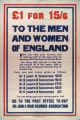 #1 for 15/6 : to the men and women of England : you can help your country and yourself at the same time... : in 1 ye