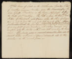 Draft note relating to the sale of Samuel Peters' deed to 5760 acres of land in the Northwestern Territory, part of Jonathan Carver's purchase from the Indian Chiefs.