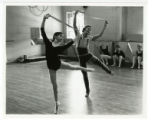Lise Houlton and Bobby Crabbe during La Fille Mal Gardee, standing