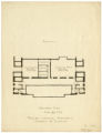 Basement Plan, Proposed Memorial Auditorium, University of Minnesota sketch