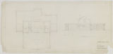 Addition to Como Golf Club House, Second Floor Plan and South Elevation