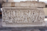 Amazonomachy sarcophagus from Thessaloniki--Archaeological Museum of Thessaloniki