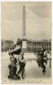 Détail d'une Fontaine de la Place de la Concorde et l'Obélisque de Louqsor