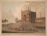 Eastern Gate of the Jummah Musjid at Delhi.