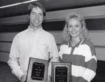 1987-1988 University of Minnesota Duluth Scholar Athletes Thomas Aney and Tara Haiskanen