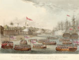 View of the landing at Rangoon of part of the combined forces from Bengal and Madras, under the orders of Sir Arch'D