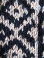 Afghan knit stockings