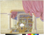A treasury with a rose curtain.