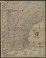 1929 Socony road map of New England
