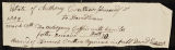 Receipt for a mahogany coffin with handles, issued by the estate of Anthony Crothers, deceased, to David Evans.