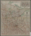 1925 First National touring map : state map of main highways and lakes of Minnesota