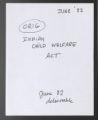 Indian Child Welfare Act, 1982 (Box 71, Folder 27)