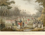 The position of part of the army previous to attacking the stockades on the 8th of July, 1824.