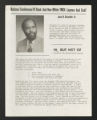 Committee, Program, and Conference Files. National Conference of Black and Non-White YMCA Laymen and Staff (BAN-WYS): Reports and conference materials, 1969-1978. (Box 6, Folder 3)