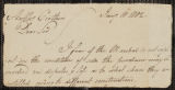 Letter to Anthony Crothers relating to the sale of lands in Allegany.