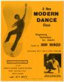 A New Modern Dance Class flyer