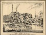 View on a lake near Rangoon