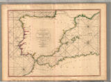 A chart of the coasts of Spain and Portugal, with the Balearic Islands, and part of the coast of Barbary