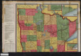 Kenyon's highway map of Minnesota : showing all counties, townships, cities, villages, post offices, railroads and stations