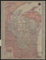 1929 official road map, Wisconsin
