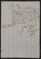 Documents and receipts relating to official work. Provenance: Madrid. October 27, 1794.
